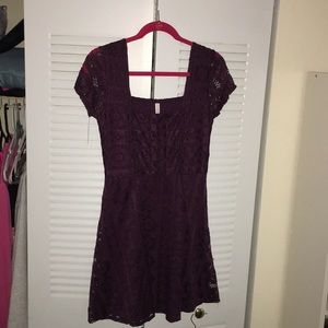 Dark Purple Mini Dress